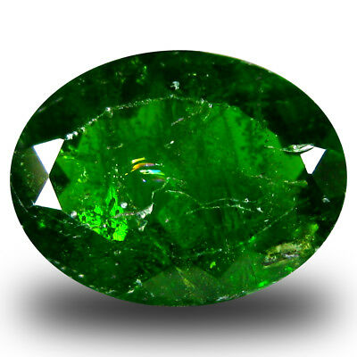 3.65 ct Supreme Oval Shape (11 x 8 mm) Green Chrome Diopside Natural Gemstone