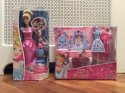 BNIB Disney Princess Cinderella's Enchanted vanity set, dressing table & doll