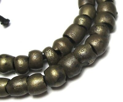 45 Rare Amazing Small Old Nigerian Brass Antique Beads African Trade