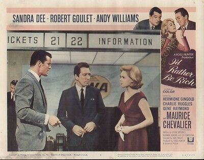 I'd Rather Be Rich 11x14 Lobby Card #4