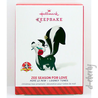 2014 ZEE SEASON FOR LOVE NEW Hallmark Pepe Le Pew Looney Tunes Ornament SKUNK
