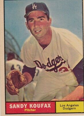 Topps 1961 #344 Sandy Koufax-Hall of Famer-Los Angeles Dodgers
