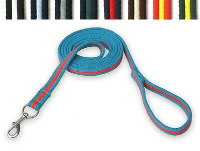 GEE TAC HORSE Cushion Web Lead ROPE HEAD COLLAR DOG 2.4 MT LUNGE LINE extra long