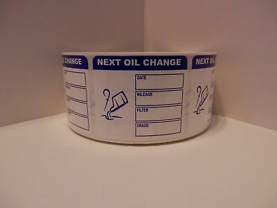 50 Next Oil Change Reminder Stickers Labels white film with removable adhesive