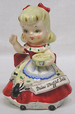 Vtg Little Miss Muffet BELL Artmark Japan First I've Seen ! Great Detail ! 1950s