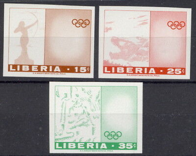Liberia 1968, Olympics, set as one color PROOFS, WRIGHT CO. ARCHIVES, RR #483-5