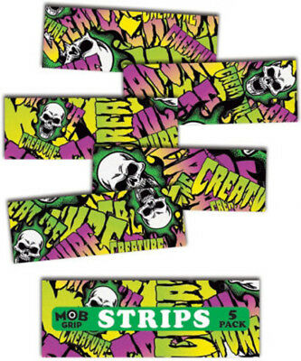 "MOB SKATEBOARD GRIP TAPE SHEET - 9"" x 3.25"" - CREATURE - COLLAGE GRIP STRIPS"