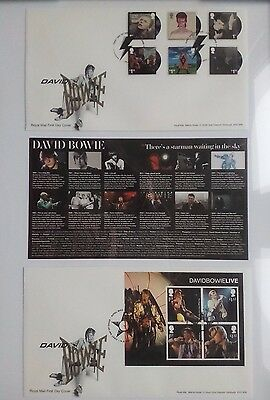 David Bowie,ltd 995,ultimate Tribute,10 Lp Stamps,2 Fdc.14Th March 2017,new Seal