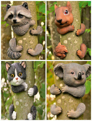Novelty Resin Garden Animals Tree Ker Ornaments Fence Shed Decoration