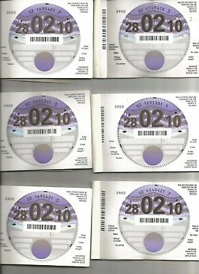 Blank Unused tax disc 28/02/2010 Very Rare Collectable