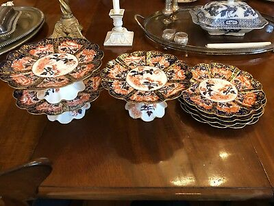 Art Nouveau Period Wileman & Co Foley China Works Early Shelley Imari 6664 Plate