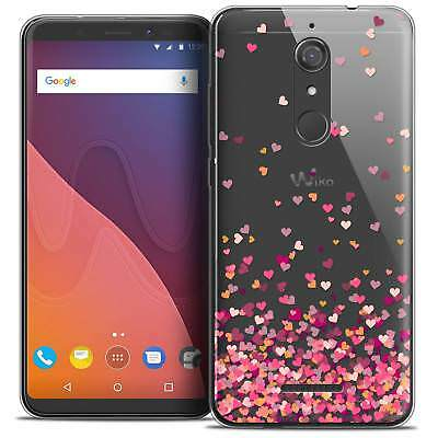 """Coque Gel Pour Wiko View (5.7"""") Extra Fine Souple Sweetie Heart Flakes"""