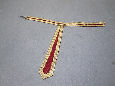 Vintage Theater Costumes Red Velvet Belt with Sash Waistband Embroidered