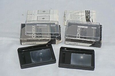 2 Vintage Contax Rts Focusing Screens