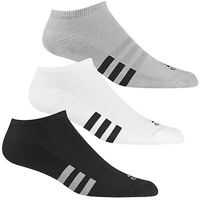 Adidas 3-Pack No Show Golf Socks,  BRAND NEW