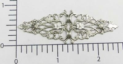 24334          Matte Silver Oxidized Victorian Filigree Jewelry Finding