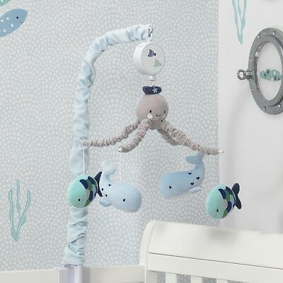 Lambs & Ivy Oceania Aquatic Musical Mobile - Aqua/Blue
