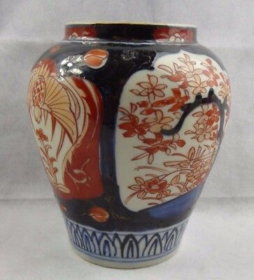 Antique Japanese Imari Porcelain Vase 19th century Hand painted Meiji Edo