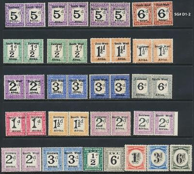 South West Africa 1923-31 Postage Due Group, Vf Lh Sg#d1++ Cat£215 $290