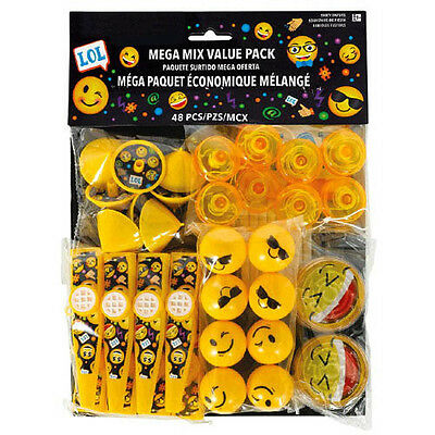 EMOJI LOL FAVOR PACK 48pc Birthday Party Supplies Toys IPhone Android Smile