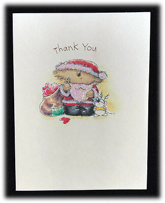 Boomerang bear thank you notecard envelope by american greetings vintage agc boomerang christmas santa bear thank you glitter single note card m4hsunfo
