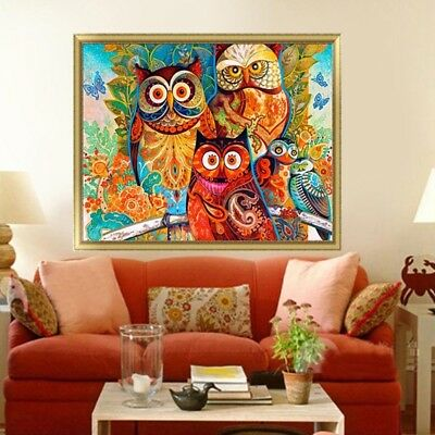 KQ_ 5D Diamond Painting Set Animal Owl Resin Home Decor DIY Wall Art Gift Reliab