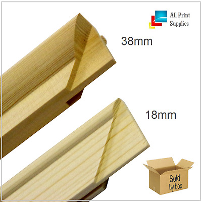 Canvas Stretcher Bars, Canvas Frames, Pine Wood 18mm & 38mm Thick--Sold By Box.