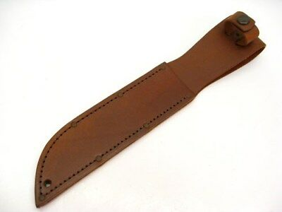 "KA-BAR Brown Leather Sheath for Full Size Fixed 7"" Blade Knives! 1217I"