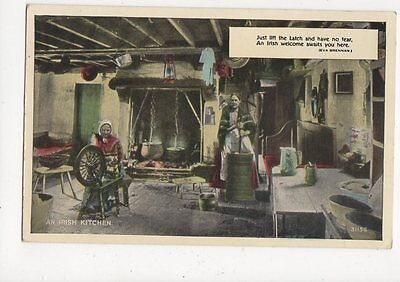 An Irish Kitchen 1962 Postcard Ireland 336a