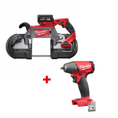 Milwaukee 2729-21 M18 FUEL Deep Cut Band Saw Kit with FREE IMPACT WRENCH