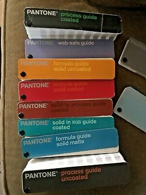 Lot 10 Pantone Color Formula Guide Coated Uncoated Solid RGB WEB METALLIC MATTE