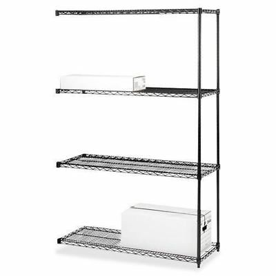 Lorell 4-Tier Industrial Wire Shelving Add-On-Unit 69147