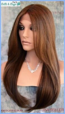 Swiss Lace Front Center Part  Wig Long Straight FS8.27.613 GORGEOUS SEXY 1277