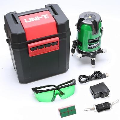 2 Cross Lines Green Laser Level 360 Degree Rotary Measure Tool Self leveling Set