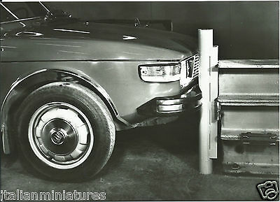 Saab 99 1972 Introduction of Safety Bumper Original Photograph With Notes