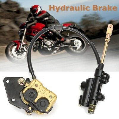 Hydraulic Rear Disc Brake Caliper System 125cc 250cc PIT PRO Quad Dirt Bike ATV