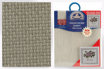 DMC Linen 14 HPI Aida Cross Stitch Fabric - per pack (DC27L-M)
