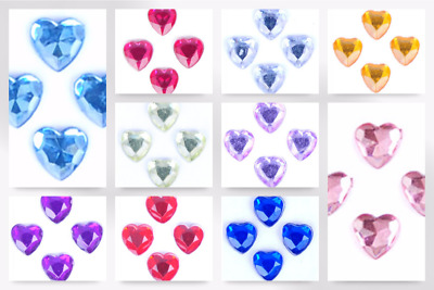 Impex Heart Stick-On Diamante Jewels - per pack of 35 (B60411-M)