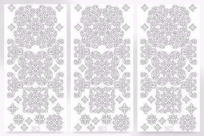 JT2.1420-M per pack of 3 3D Decoupage Peel Off Stickers Flowers