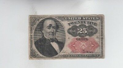 Fractional Currency Civil war era item to the 1870's  fine stains tear