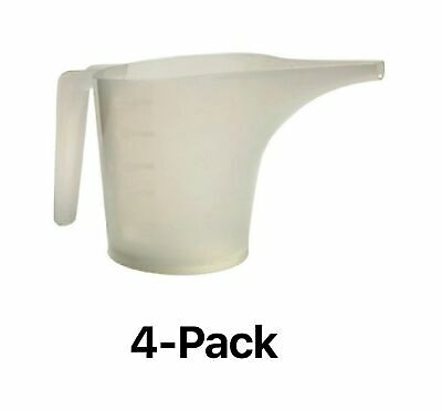 Norpro 2-Cup Measuring Funnel Pitcher Translucent White Batter Pouring (4-Pack)