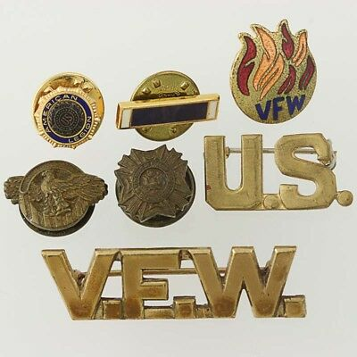 US Military Veterans Pins - Lot of 6 Ruptured Duck American Legion VFW