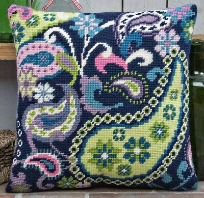 Twilleys of Stamford Paisley Extravaganza Cushion Tapestry Kit (2894-0029)
