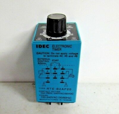IDEC RTE-B2AF20 Electronic Timer Relay 100-240V 10A FREE SHIPPING!