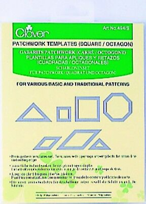 Clover Patchwork & Quilting Templates Square & Octagon - per pack of ...