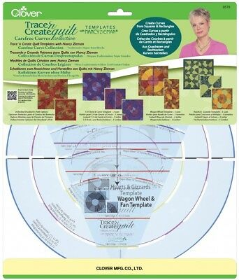 Clover Patchwork & Quilting Carefree Curves Templates - per pack (CL9578)