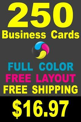 250 Full Color Gloss Custom Business Cards - Plus FREE Shipping $16.97