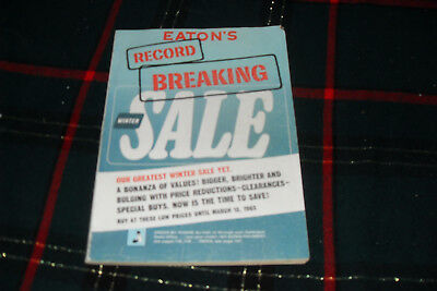 1965 Canadian EATONS'S Winter Record Breaking Sale Catalog Free s/h in Canada