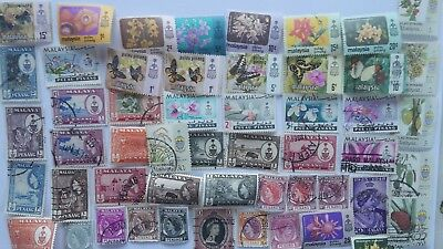 50 Different Malay States Stamp Collection - Penang