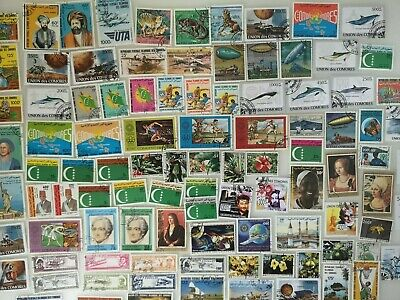 500 Different Comoro Islands Stamp Collection